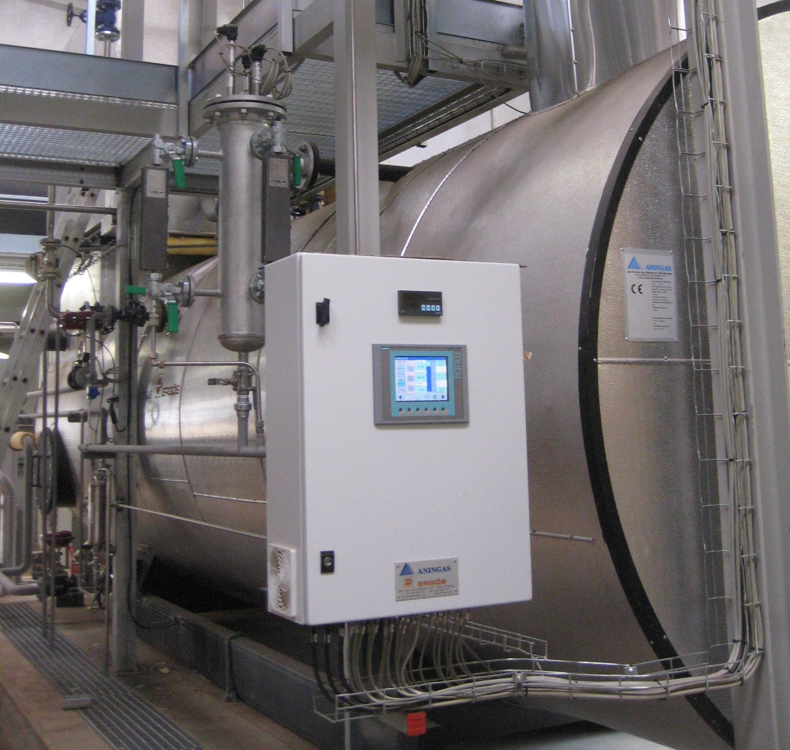 Aningas Ergos S A WASTE HEAT RECOVERY BOILERS COGENERATION